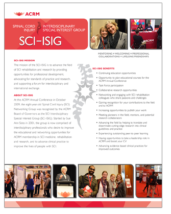 CLICK to View SCI-ISIG Brochure