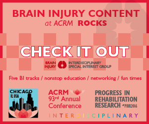 Click to See Conference Programming Relevant to Brain Injury Rehabilitation
