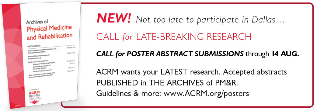 ACRM Wants Your Late-Breaking Research!