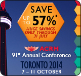 Save 57% off ACRM Annual Conference Toronto