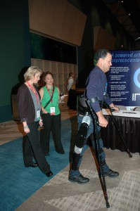 Indego Exoskeleton demonstrated by Michael Gore, Shepherd Center patient