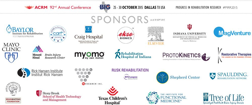 2015 ACRM Annual Conference Sponsors