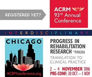 ACRM Progress in Rehabilitation Research (PIRR) ad