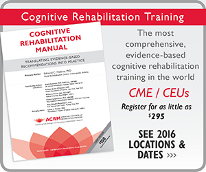 Click to View Cognitive Rehabilitation Training 2016 Tour