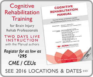 Cognitive Rehabilitation Training 2016 Tour