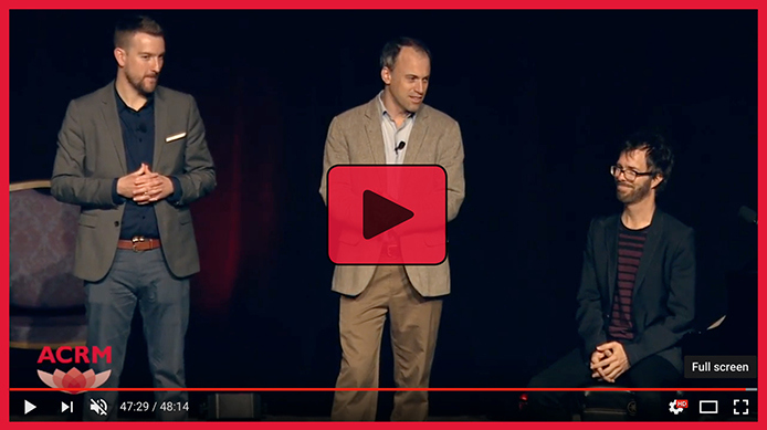 2016 ACRM Symposium featuring (left to right) Brian Harris, Ron Hirschberg, Ben Folds & Pamela Quinn (not pictured)