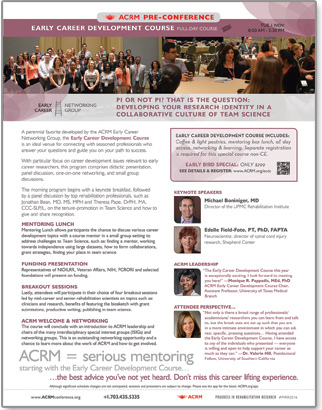 Click to View/Share Early Career Development Flyer