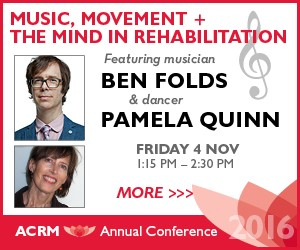 Ben Folds & Pamela Quinn present Music, Movement & the Mind in Rehabilitation