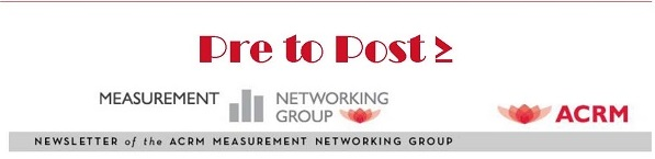 Pre to Post Newsletter of the ACRM Measurement Networking Group