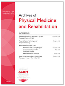 Archives of Physical Medicine and Rehabilitation Cover Image